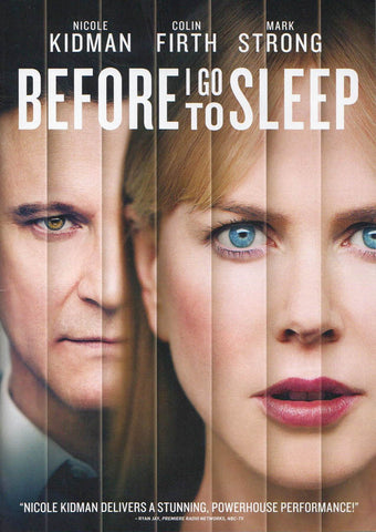 Before I Go To Sleep DVD Movie