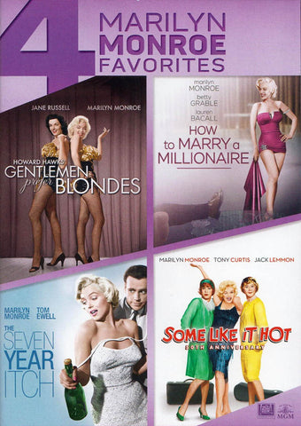Gentlemen Prefer Blondes ........ Some Like it Hot (4 Marilyn Monroe Favorites) DVD Movie