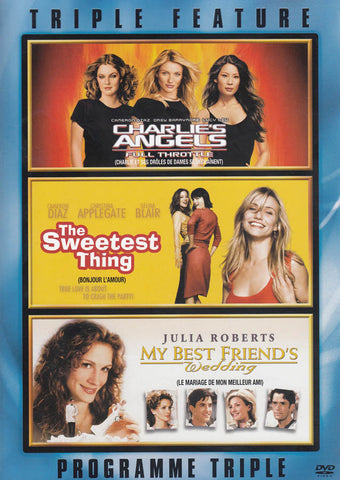Charlie s Angels / The Sweetest Thing / My Best Friend s Wedding (Triple Feature) (Bilingual) (Keepc DVD Movie