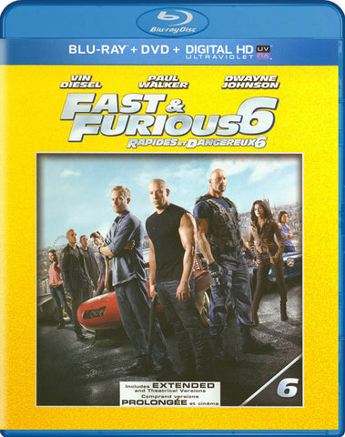 Fast & Furious 6 (Extended Edition) (Blu-ray + DVD + Ultraviolet) (Bilingual) DVD Movie