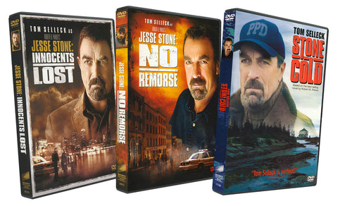 Jesse Stone: Innocent Lost / Jesse Stone: No Remorse / Stone Cold (Tom Selleck Movies 3-PACK) DVD Movie
