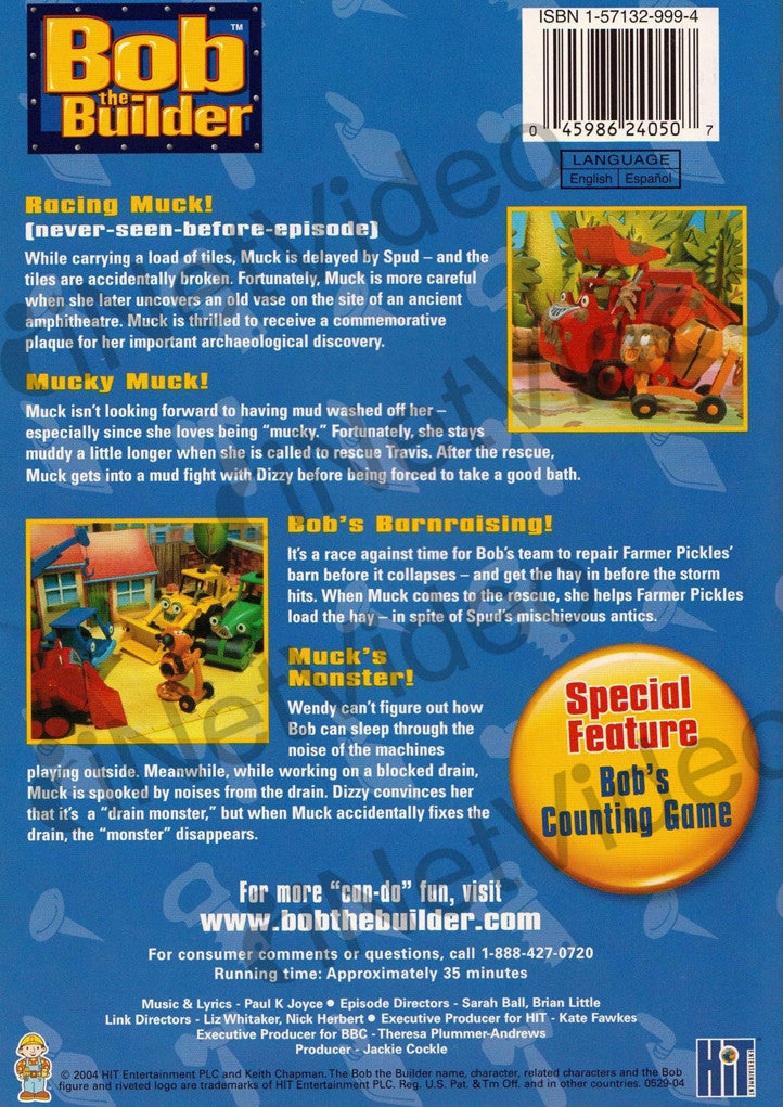 Bob the builder muck 39 s favorite adventure on dvd movie for Questions to ask a builder when buying a new home