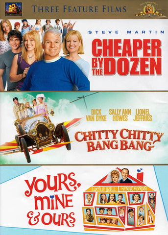 Cheaper By The Dozen / Chitty Chitty Bang Bang / Yours Mine & Ours (Triple Features) DVD Movie