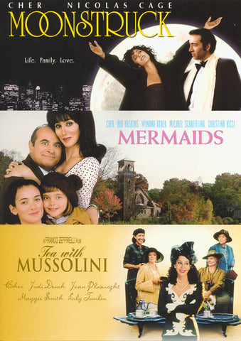 Cher - The Film Collection (Moonstruck / Mermaids / Tea With Mussolini) DVD Movie