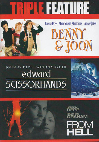 Benny & Joon / Edward Scissorhands / From Hell (Johnny Depp) (Triple Feature) DVD Movie