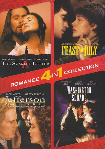 The Scarlet Letter / Washington Square / Jefferson in Paris / Feast of July (4-in-1 Romance Collecti DVD Movie