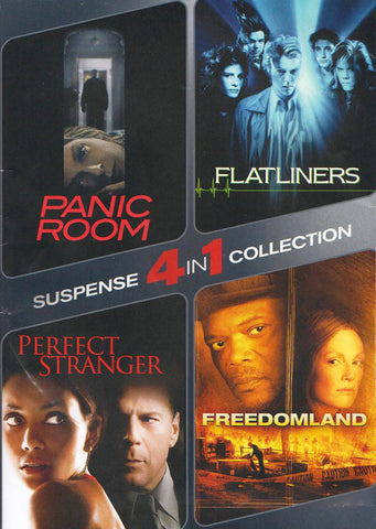 Panic Room / Flatliners / Perfect Stranger / Freedomland (4-in-1 Suspense Collection) DVD Movie