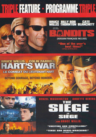 Bruce Willis Triple Feature (Bandits / Hart's War / The Siege) (Bilingual) (Boxset) DVD Movie