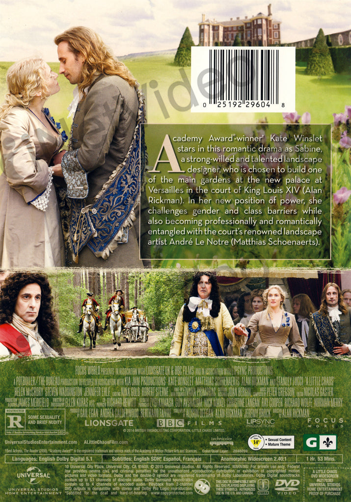 A Little Chaos on DVD Movie
