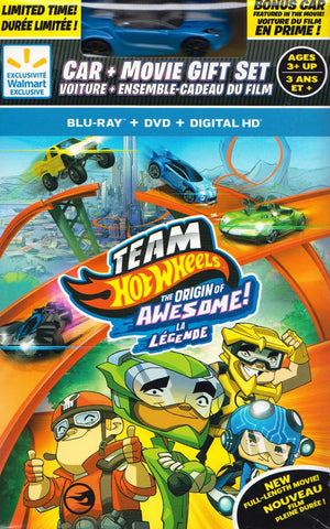 Team Hot Wheels - The Origin of Awesome with Toy (Blu-ray / DVD / Digital HD) (Blu-ray) (Boxset) BLU-RAY Movie