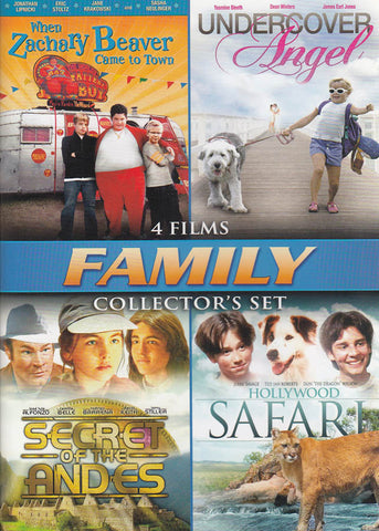Family Collector's Set (When Zachary Beaver Came To Town ..... Hollywood Safari) (4-Films) DVD Movie