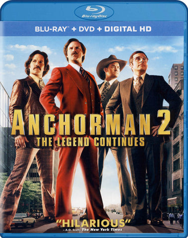 Anchorman 2 - The Legend Continues (Blu-ray + DVD + Digital HD) (Blu-ray) BLU-RAY Movie