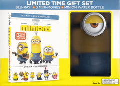 Minions - 3 Mini Movies (Blu-ray + DVD + Digital HD + Water Bottle) (Blu-ray) (Boxset)