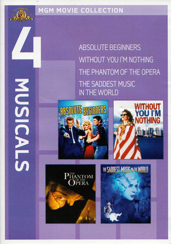 MGM 4 Musicals - (Absolute Beginners / Without You I m Nothing /The Phantom of the Opera / The Sadde DVD Movie