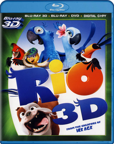 Rio (Blu-ray 3D + Blu-ray + DVD + Digital Copy) (Blu-ray) BLU-RAY Movie