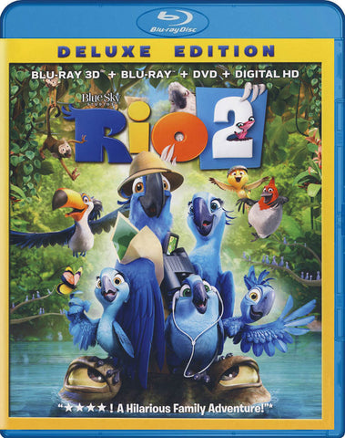 Rio 2 Deluxe Edition (3D Blu-ray + Blu-ray + DVD + Digital HD) (Blu-ray) BLU-RAY Movie