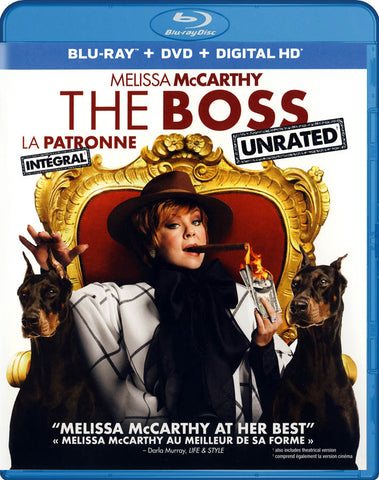 The Boss (Blu-ray + DVD + Digital HD) (Unrated) (Bilingual) DVD Movie