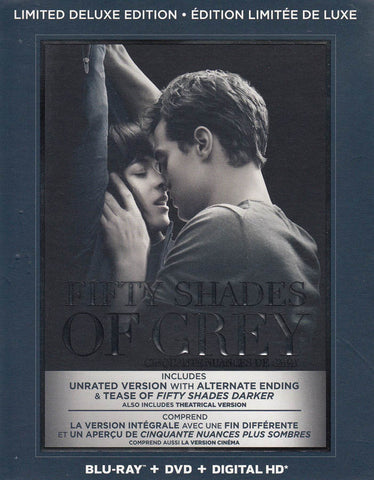 Fifty Shades of Grey (Blu-ray + DVD + Digital HD) (Limited Deluxe Edition) (Bilingual) (Boxset) DVD Movie