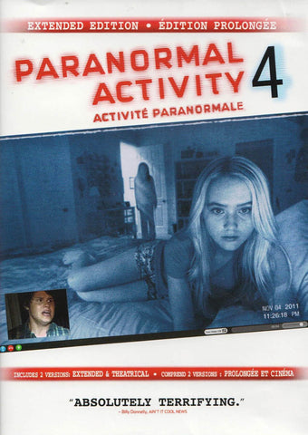 Paranormal Activity 4 (Extended Edition) (Bilingual) DVD Movie