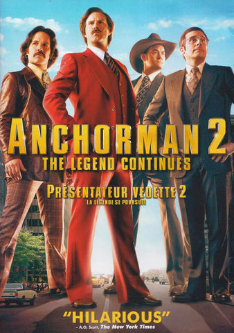 Anchorman 2 - The Legend Continues (Bilingual) DVD Movie