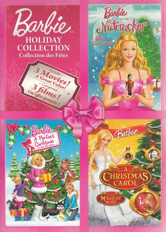 Barbie Holiday Collection (Nutcracker / A Perfect Christmas / A Christmas Carol) (Bilingual)(Boxset) DVD Movie