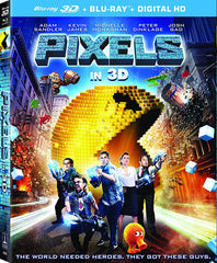 Pixels (3D Blu-ray + Blu-ray + Digital Copy) (Blu-ray)