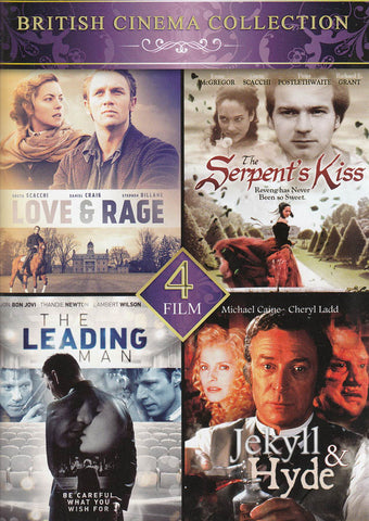 4-Film British Cinema Collection (Love & Rage / Serpent's Kiss / Leading Man / Jekyll & Hyde) DVD Movie