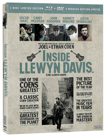 Inside Llewyn Davis (3-Disc Limited Edition) (Blu-ray + DVD) (Bilingual) (Blu-ray) BLU-RAY Movie