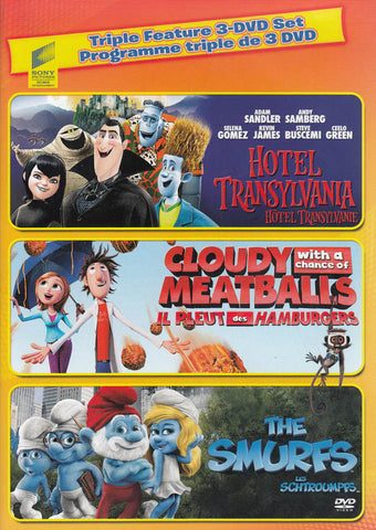 Hotel Transylvania / Cloudy with a Chance of Meatballs / The Smurfs (Triple Feature) (Bilingual) DVD Movie