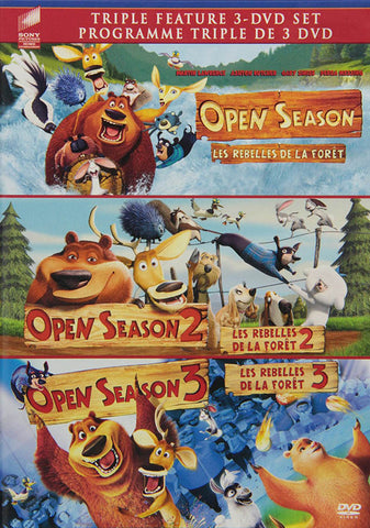 Open Season / Open Season 2 / Open Season 3 (Triple Feature) (Bilingual) DVD Movie
