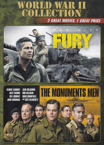 Fury / The Monuments Men (World War 2 Collection) DVD Movie
