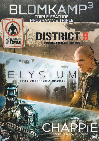 Blomkamp: Triple Feature (District 9 / Elysium / Chappie) DVD Movie