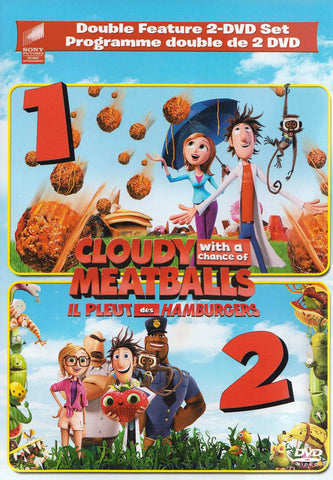 Cloudy with a Chance of Meatballs 1 & 2 (Double Feature 2-DVD Set) (Bilingual) DVD Movie