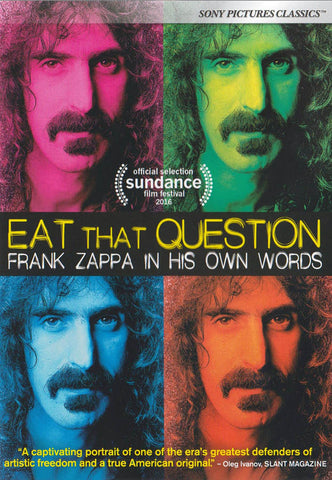 Eat That Question - Frank Zappa in His Own Words DVD Movie