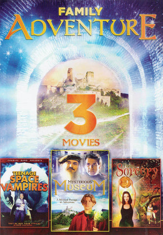Family Adventure 3 Movies (Mysterious Museum / Teen Sorcery / Teenage Space Vampires) DVD Movie