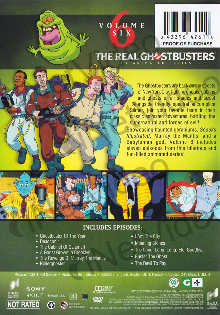 The Real Ghostbusters The Animated Series Volume 6 Six On Dvd Movie