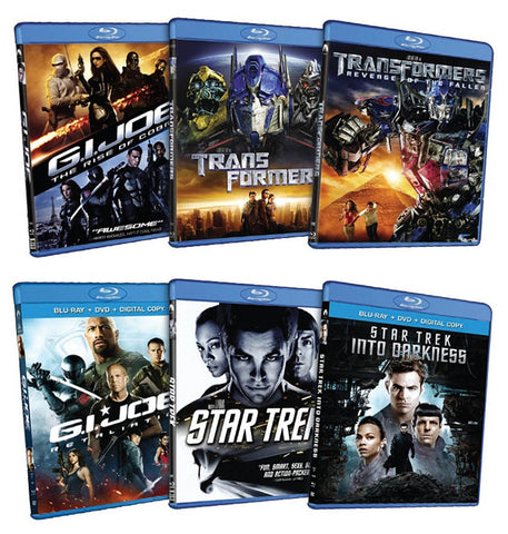 6 Blockbuster Hits Pack (G.I. Joe / Transformers / Star Trek) (Blu-ray) (Boxset) BLU-RAY Movie