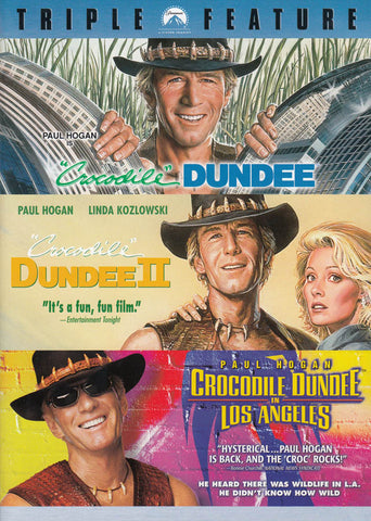 Crocodile Dundee / Crocodile Dundee II / Crocodile Dundee in Los Angeles (Triple Feature) DVD Movie