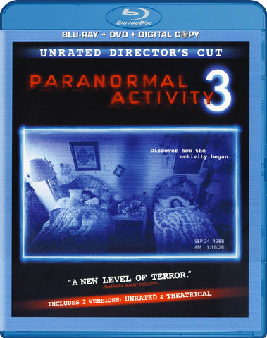 Paranormal Activity 3 (Unrated Director's Cut) (Blu-ray + DVD + Digital Copy) (Blu-ray) BLU-RAY Movie