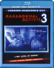Paranormal Activity 3 (Unrated Director's Cut) (Blu-ray + DVD + Digital Copy) (Blu-ray)