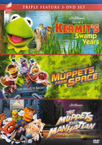 Kermit s Swamp Years / Muppets From Space / The Muppets Take Manhattan (Triple feature) DVD Movie