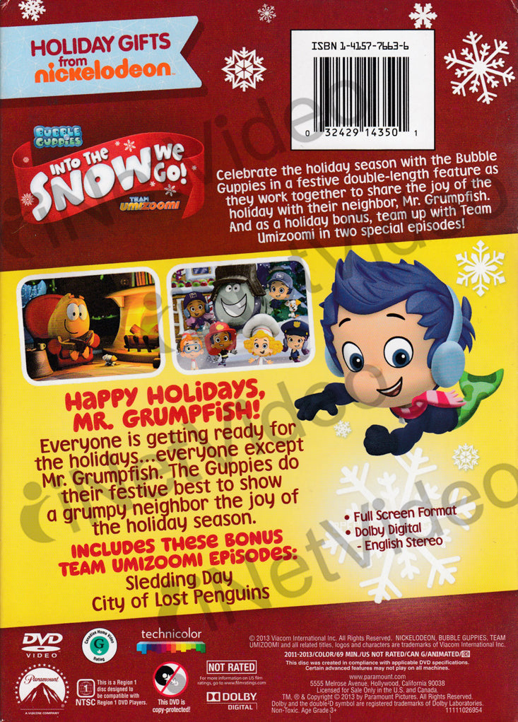 Nickelodeon Bubble Guppies / Team Umizoomi: Into the Snow We