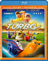 Turbo (Deluxe Edition) (Blu-ray 3D + Blu-ray + DVD + Digital Copy) (Blu-ray) (Bilingual)