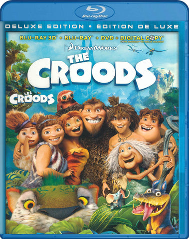 The Croods (Deluxe Edition) (Blu-ray 3D / Blu-ray / DVD / Digital HD) (Blu-ray) (Bilingual) BLU-RAY Movie