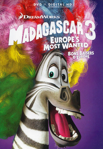 Madagascar 3 - Europe s Most Wanted (Purple Cover) (Blu-ray / DVD / Digital HD) (Blu-ray) (Bilingual BLU-RAY Movie