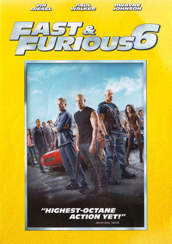 Fast and Furious 6 DVD Movie