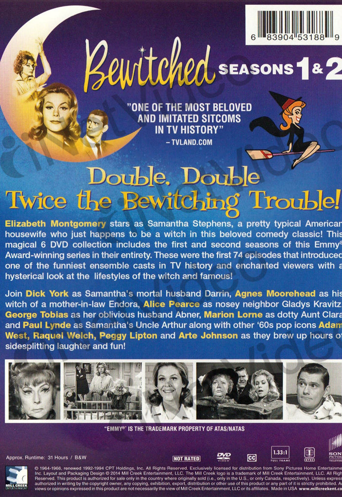Bewitched Season 1 2 On Dvd Movie
