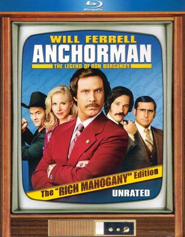Anchorman - The Legend of Ron Burgundy (The Rich Mahogany Edition) (Boxset) (Blu ray) DVD Movie