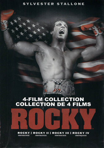 Rocky: 4-Film Collection (1, 2, 3, 4) (Bilingual) (Keepcase) DVD Movie