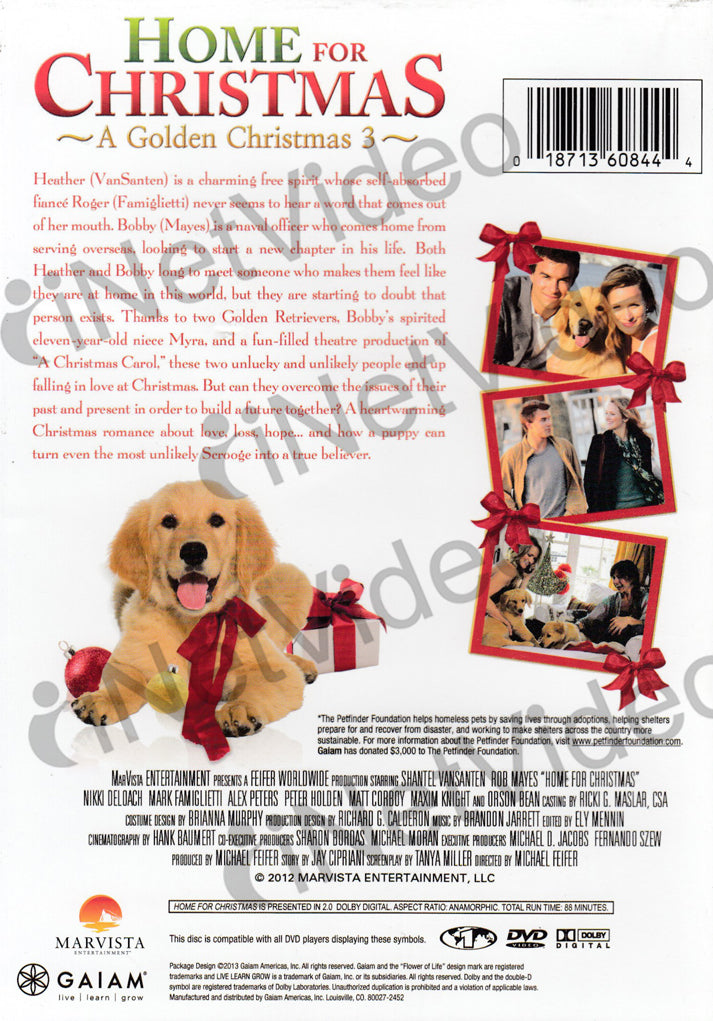 home for christmas a golden christmas 3 dvd movie - Golden Christmas 3